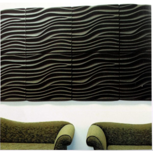 Acousti tile 3d dune acoustical tile sound acoustical llc sweets - Decorative acoustic wall panels ...