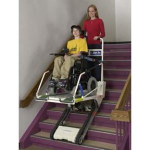 super trac portable inclined platform lift garaventa. Black Bedroom Furniture Sets. Home Design Ideas