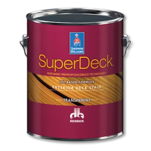Superdeck exterior oil based transparent stain the sherwin williams company sweets for Sherwin williams exterior stain