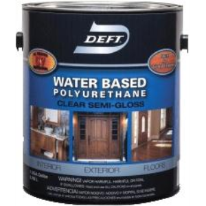 Deft polyurethane interior exterior water based gloss for Exterior water based paint