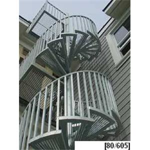 Stairways, Inc.   Galvanized Steel Spiral Stairs