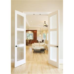 Dunbarton Corporation   Slimfold® Alterra Collection Solid Wood Frosted  Glass Doors