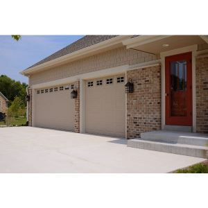 Recessed panel 2294 flush garage doors c h i overhead for Flush panel wood garage door