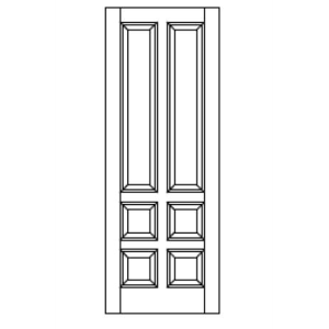 Style 690 stile rail mdf door vt industries inc for Wood stile and rail doors