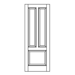 Style 311 stile rail mdf door vt industries inc for Wood stile and rail doors