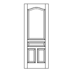 Style 420 stile rail mdf door vt industries inc for Wood stile and rail doors