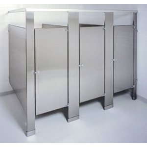 Stainless steel toilet partitions accurate partitions for Stainless steel bathroom partitions
