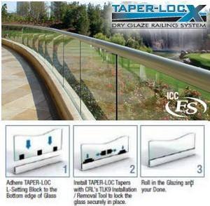 TAPER-LOC® Dry-Glazed Railing System