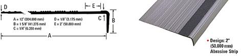 Mercer Linear Series Rubber Stair Treads