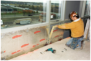 Thermafiber firespan curtain wall insulation for Mineral wool firestop