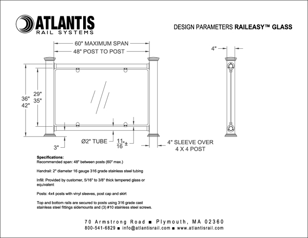 Raileasy Glass Stainless Steel Glass Railing Atlantis