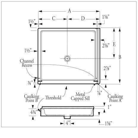 Saflor 174 Corner Shower Receptors Florestone Products Co