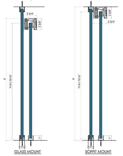 Automatic doors polaris™ auto magnetic sliding glass