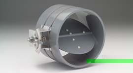 "PVC12: PVC round, medium duty, single blade, balancing damper, 4000 FPM, 4"" w.c. max."