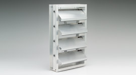 Commercial Counterbalanced Backdraft Damper - Aluminum Counterbalanced - CBD6