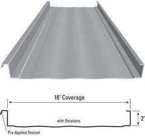 Curved Magna Loc Structural Standing Seam Metal Roof