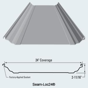 Seam Loc24 174 Structural Standing Seam Metal Roof Panel