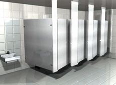 Ceiling Hung Powder Coated Metal Toilet Partitions
