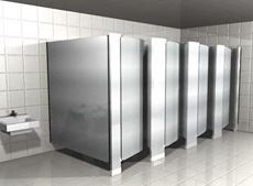Floor Mounted Stainless Steel Toilet Partitions