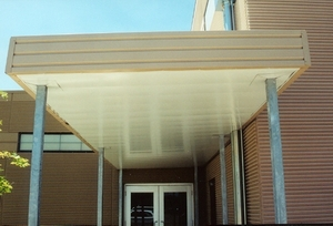 Walkway Cover with Soffit