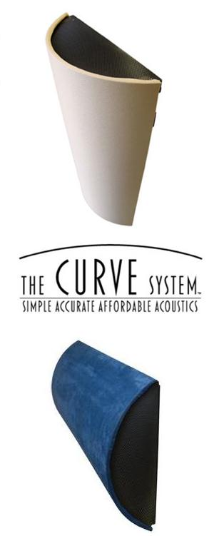 The CURVE System™ - Acoustical Diffusers, Absorbers, and Corner Traps for Walls & Ceilings