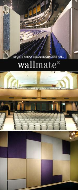 Wallmate® - Stretched Fabric Acoustical Wall System