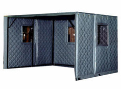 Machine Enclosures - Absorptive/Noise Barrier Quilted Curtains