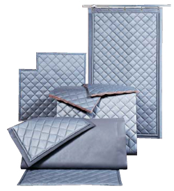 Silicone Coated Quilted Curtain S.T.O.P.