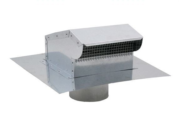 Bath Fan / Kitchen Exhaust - Roof Vent with Extension - Galvanized - BKX