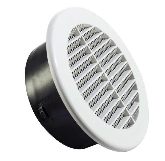 Round Soffit Under Eave Vent Plastic 6 Inch Famco