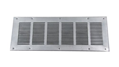 Louvered Foundation Vent with Screen - Galvanized - VS