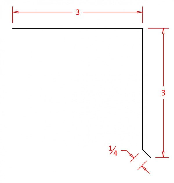 "Standard Flashing Drip Edge 3"" - DE33"