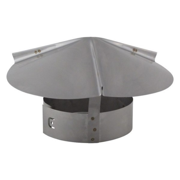 Cone Top Chimney Cap with Screen - Stainless Steel - CTSS-S