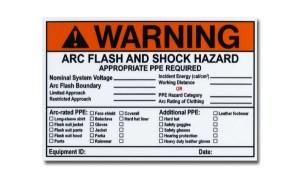 MS-478 Write-On Self Laminating Arc Flash Labels