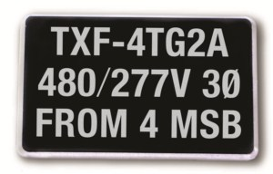 MS-215 Max-Tek Equipment Sign