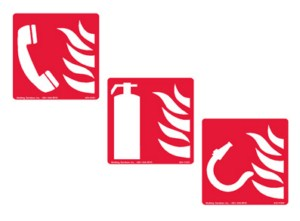 International Safety Fire Fighting Signs