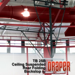 Rear Folding Basketball Backstops