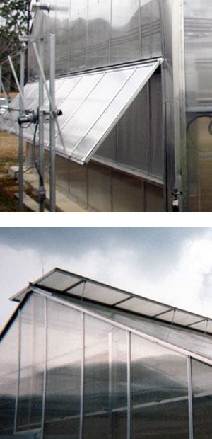 Greenhouse Roof and Wall Vents