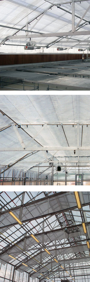 Greenhouse Sun Control Energy Curtain