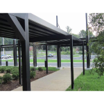 Architectural Shade Products - Extruded Aluminum Walkway Canopies