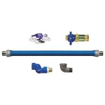 Dormont - Series 1650, 1675, 16100, 16125 - Blue Hose™ Stainless Steel Moveable Foodservice Gas Connector