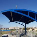 Hendee Enterprises Inc. - Cantilever Shade Structures - Arched Cantilever