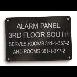 Marking Services, Inc. - Aluminum Equipment Signs