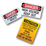 Marking Services, Inc. - MS-900 Self Adhesive Operational and Safety Signs