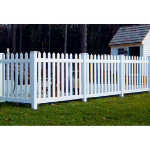 Country Estate Fence, Deck and Railing - Cape Cod- Neighbor Friendly Style Vinyl Fencing