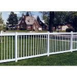 Country Estate Fence, Deck and Railing - Pacific Diamond- Neighbor Friendly Style Vinyl Fencing