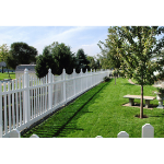 Country Estate Fence, Deck and Railing - Potomac- Neighbor Friendly Style Vinyl Fencing