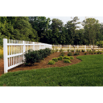 Country Estate Fence, Deck and Railing - Alton - Picket Style Vinyl Fencing