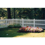 Country Estate Fence, Deck and Railing - Clayton - Picket Style Vinyl Fencing