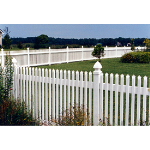 Country Estate Fence, Deck and Railing - Georgetown - Picket Style Vinyl Fencing